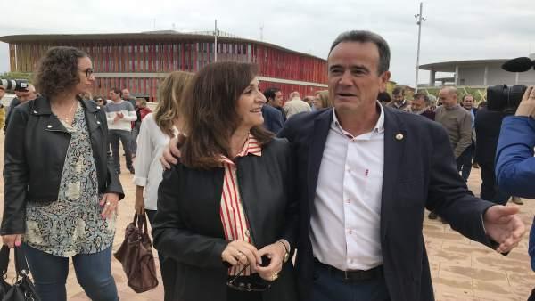 Sánchez Quero y la delegada del Gobierno en Aragón, Carmen Sánchez