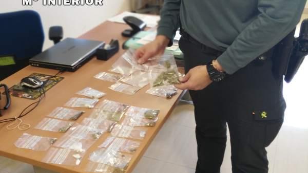 Guardia Civil efectúa 40 incautaciones de droga en Baena