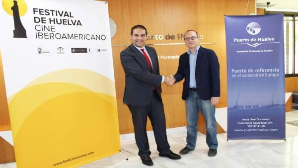 Firma de la Autoridad Portuaria y el Festival de Cine Iberoamericano de Huelva