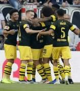 El Borussia Dortmund celebra un gol frente al Stuttgart.