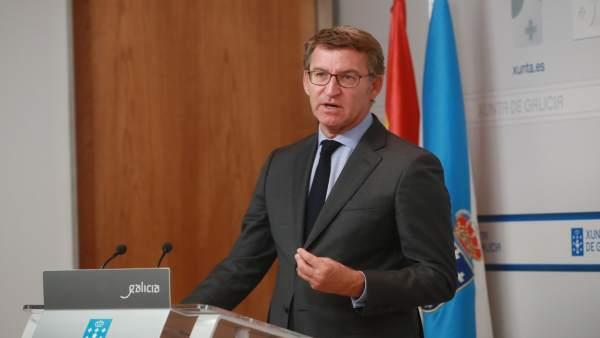 Feijóo, en la rueda de prensa posterior al Consello de la Xunta
