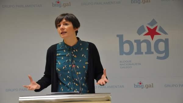 La líder del BNG, Ana Pontón, en rueda de prensa