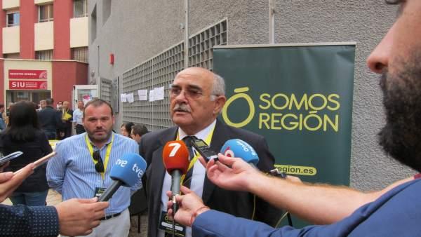 El presidente de Somos Región, Alberto Garre