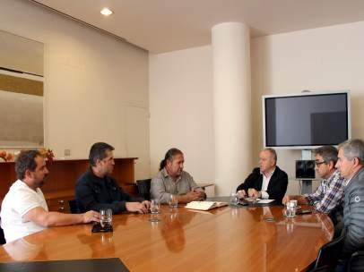 Reunión de Mguel Gracia y el sector de la fruta.