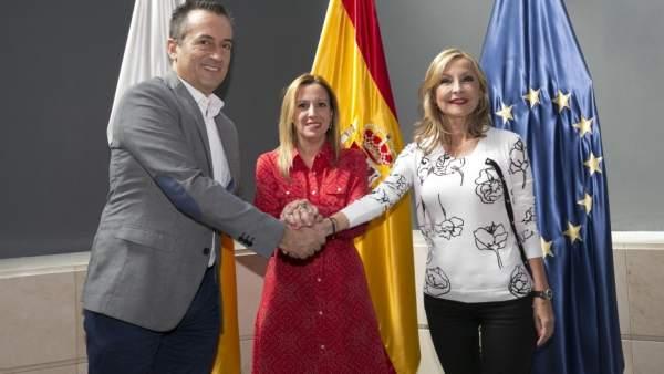 José Miguel Ruano, Rosa Dávila y Australia Navarro