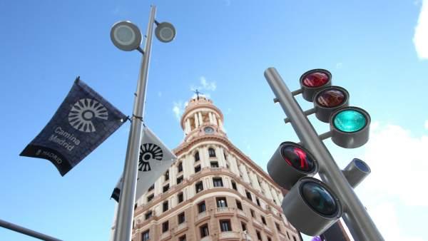 Así son los nuevos semáforos de Gran Vía