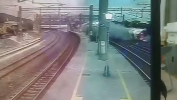 Así ha descarrilado el tren de Taiwán
