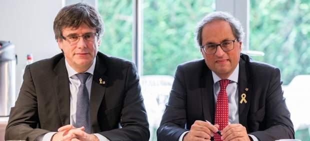 Torra y Puigdemont anuncian, sin decir cómo, que activarán el día 30 el