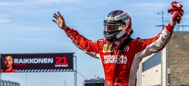 Los 7 récords que batió Kimi Räikkönen con su victoria en Austin