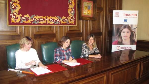 Inserta Empleo y el Ayuntamiento de Teruel han firmado hoy el acuerdo