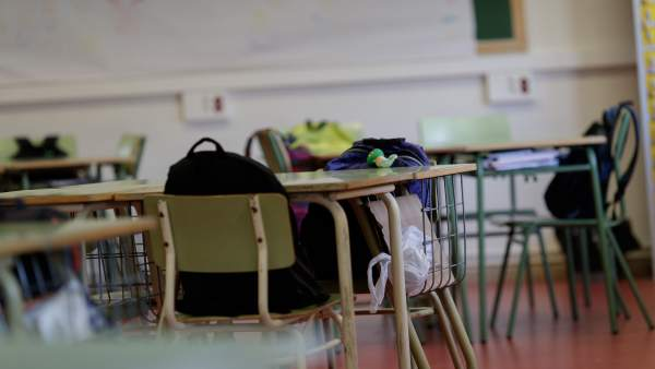 Un aula de colegio (imagen de archivo)