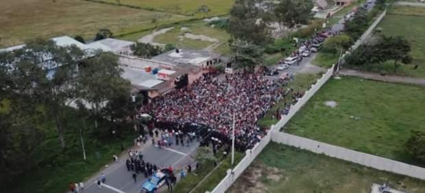 La caravana de migrantes continúa avanzando por México