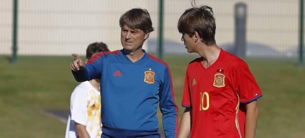 Julen Guerrero convoca para la selección sub15 a su hijo, la perla que entrena Raúl González