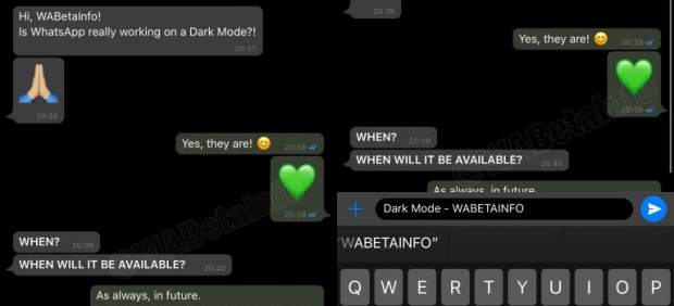 Primer vistazo al esperado modo oscuro de WhatsApp, que llegará con la próxima actualización
