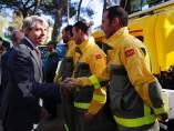 El presidente Ángel Garrido durante su visita a Collado Villalba