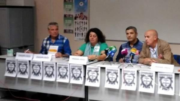 Rueda de prensa sobre la huelga en prisiones