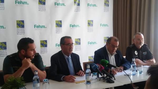 Representantes de la Asociación Hotelera de Palmanova-Magaluf