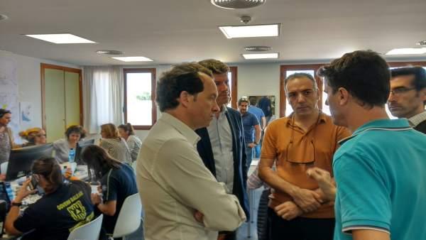 El conseller Pons en la reunión de coordinación