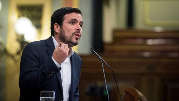 Alberto Garzón defendió la proposición de ley de Unidos Pode