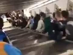 Varios aficionados del CSKA, heridos en el metro de Roma