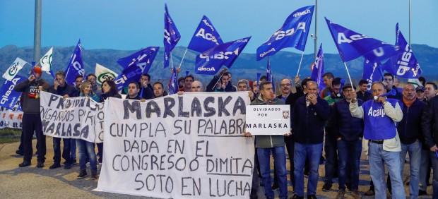 Convocatoria de huelga de prisiones en Soto del Real (Madrid)