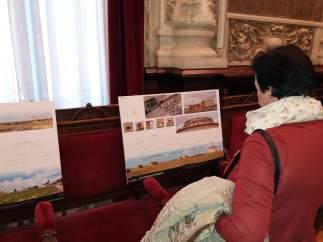 Palencia.- Uno de los paneles de los palomares analizados