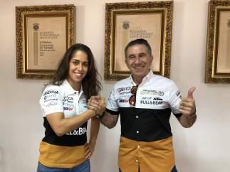 María Herrera y Jorge Martínez Aspar anuncian el fichaje de la piloto por el Ángel Nieto Team