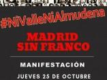 Manifestación en contra de que los restos de Franco se lleven a La Almudena