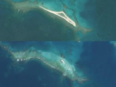 El antes y después de la isla del Este, el más grande de Hawai tras el paso del huracán Walaka