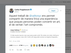 Puigdemont retuitea a Valtònyc
