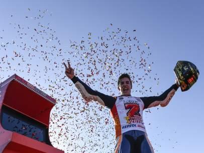 Marc Márquez, feliz tras ganar su séptimo título mundial
