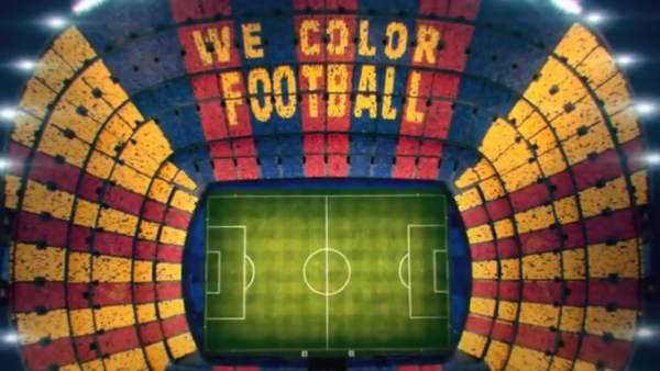 El mosaico que se verá en el Camp Nou antes del Clásico 7724bad6684