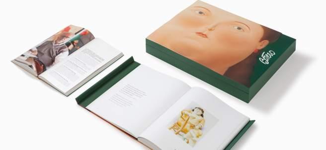 El estuche y los dos tomos que dan forma al libro de de artista 'Las mujeres de Botero' editado por Artika.