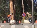Agresión de un camionero a un ciclista