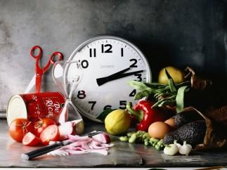 Comida reloj