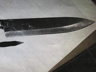 Uno de los cuchillos que llevaban las menores