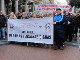 Valladolid.- Pensionistas se manifiestan por pensiones dignas 27-10-2018