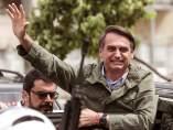 Bolsonaro, tras votar este domingo en una área militar en la zona norte de Río de Janeiro.