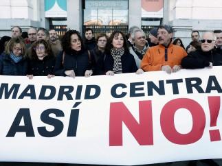 concentración Plataforma Afectados Madrid Central