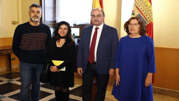 Lambán y Broto se han reunido hoy con la Federación Aragonesa de Solidaridad