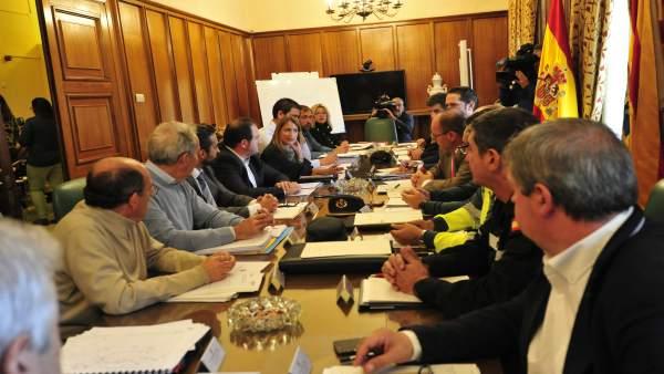 Reunión sobre el plan de vialidad invernal en Teruel