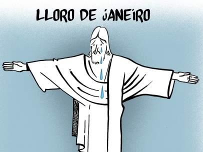 'Lloro de Janeiro', viñeta de Malagón