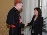 Carmen Calvo se reúne con Pietro Parolin