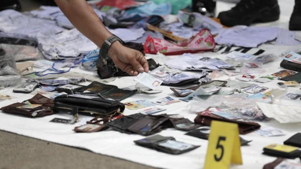 Restos accidente aéreo Indonesia