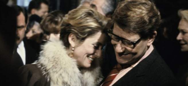 Yves Saint Laurent y Catherine Deneuve