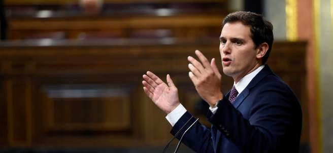 Rivera, este martes en el Congreso.