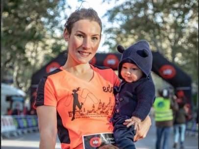 La atleta Sophie Power, durante su visita a Madrid
