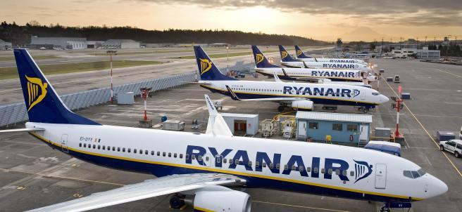 Aviones de Ryanair, de archivo