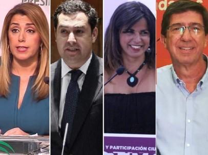 Candidatos a las elecciones andaluzas.