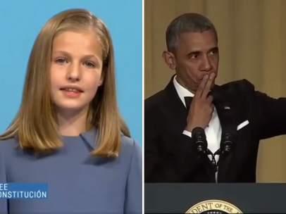 Leonor y Obama